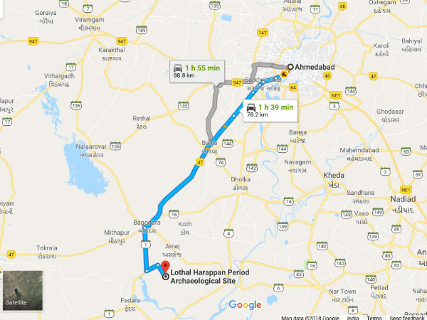 How To Reach Lothal From Ahmedabad