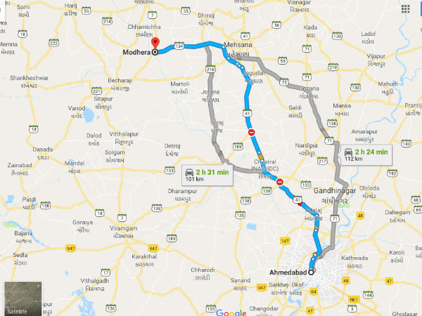 How To Reach Modhera From Ahmedabad