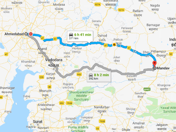 How To Reach Mandu From Ahmedabad
