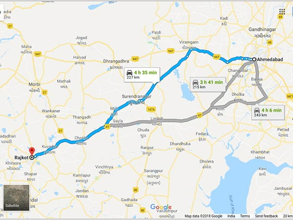 How To Reach Rajkot From Ahmedabad