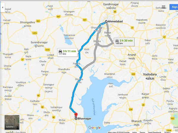How To Reach Bhavnagar From Ahmedabad