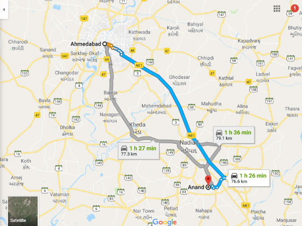 How To Reach Anand From Ahmedabad