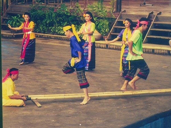 Traditional Bamboo Dance