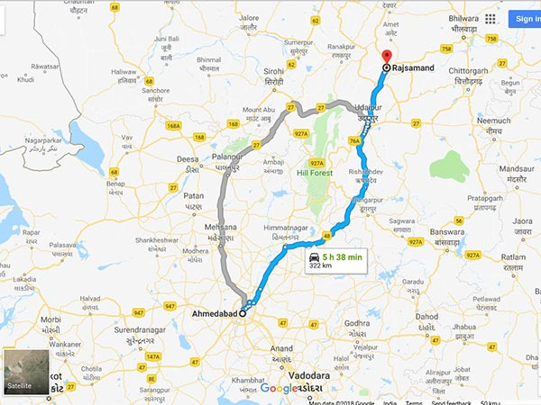 How To Reach Rajsamand From Ahmedabad