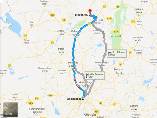 How To Reach Mount Abu From Ahmedabad