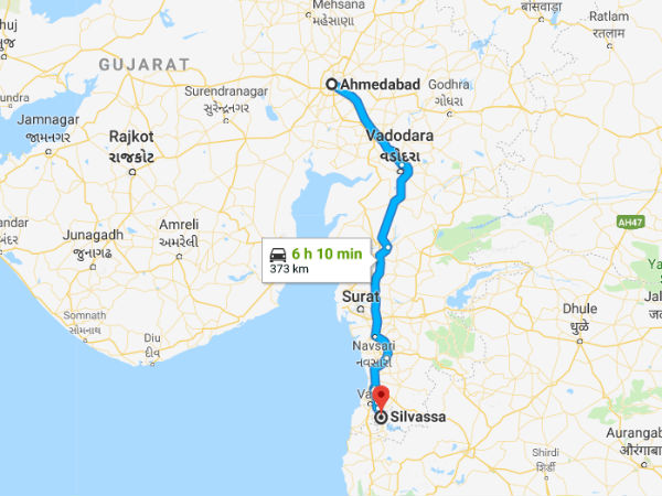 How To Reach Silvassa From Ahmedabad
