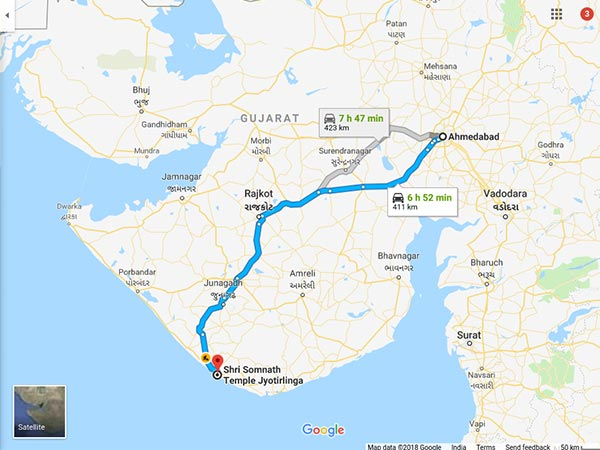 How To Reach Somnath Temple From Ahmedabad