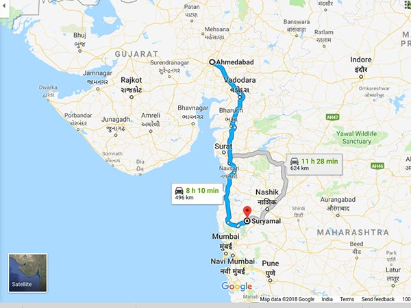 How To Reach Suryamal From Ahmedabad