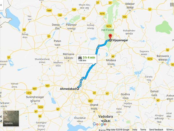 How To Reach Vijayanagar From Ahmedabad