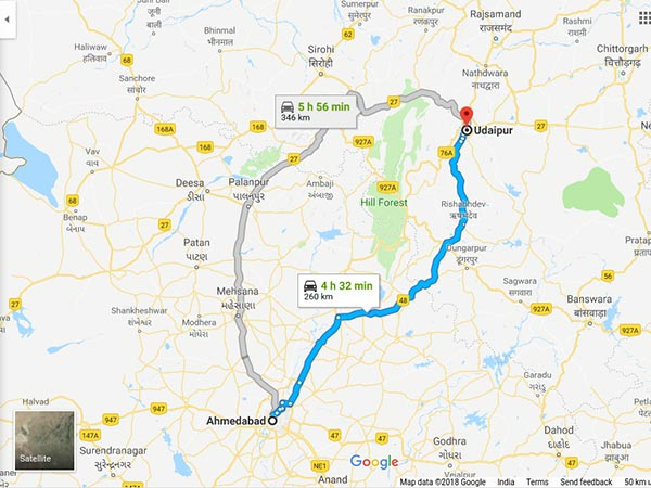 How To Reach Udaipur From Ahmedabad