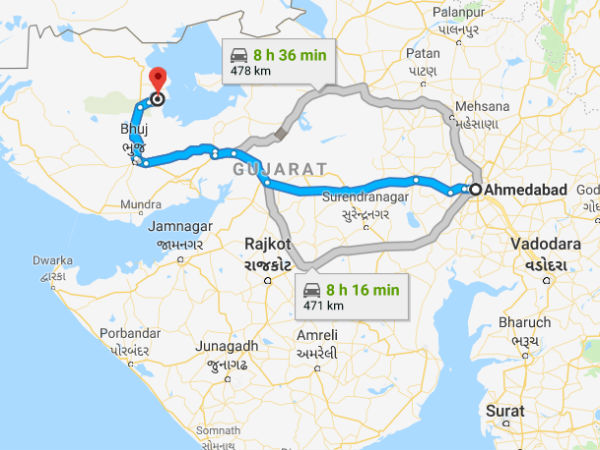 How To Reach Kutch From Ahmedabad