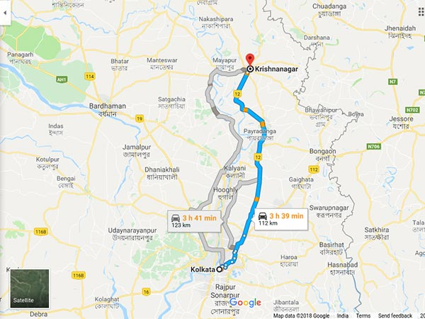 How To Reach Krishnanagar From Kolkata