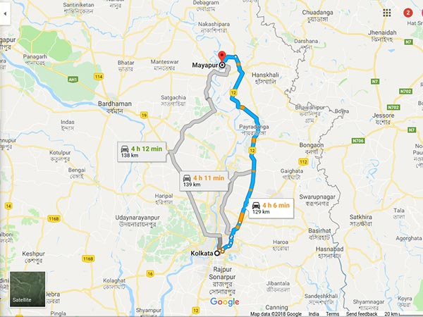 How To Reach Mayapur From Kolkata
