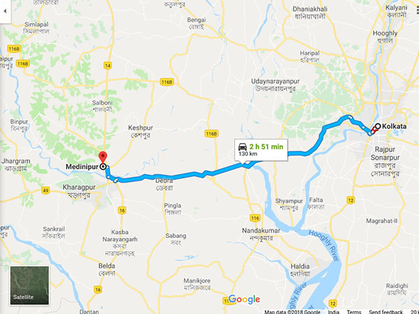 How To Reach Midnapore From Kolkata