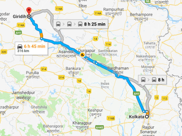 How To Reach Giridih From Kolkata