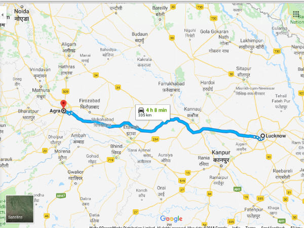 How To Reach Agra From Lucknow