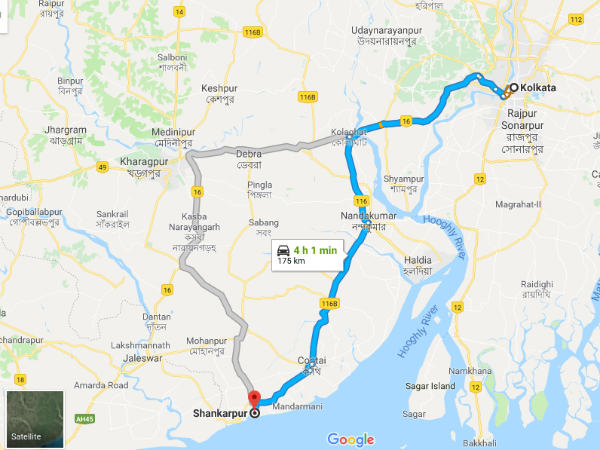 How To Reach Shankarpur From Kolkata