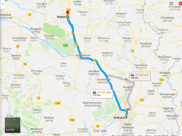 How To Reach Bolpur From Kolkata
