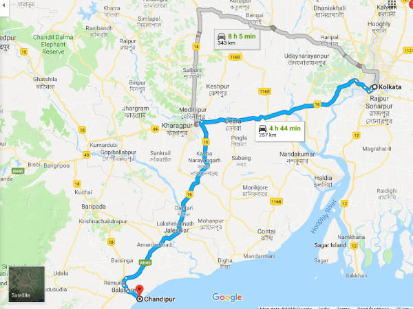 How To Reach Chandipur From Kolkata