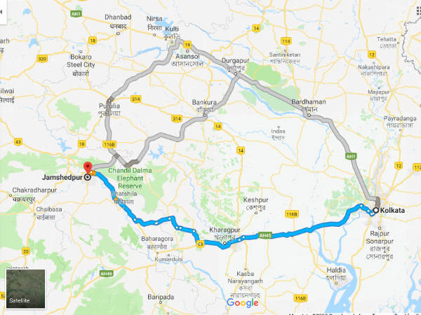 How To Reach Jamshedpur From Kolkata