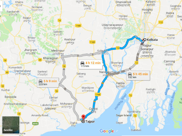 How To Reach Tajpur From Kolkata