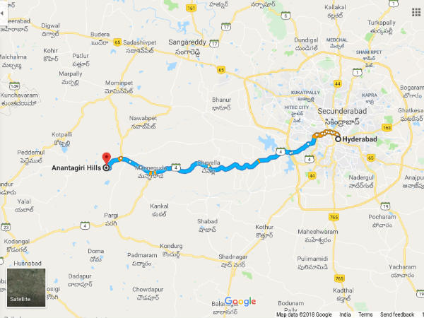 How To Reach Ananthagiri Hills
