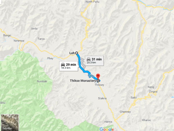 How To Reach Thiksey Monastery