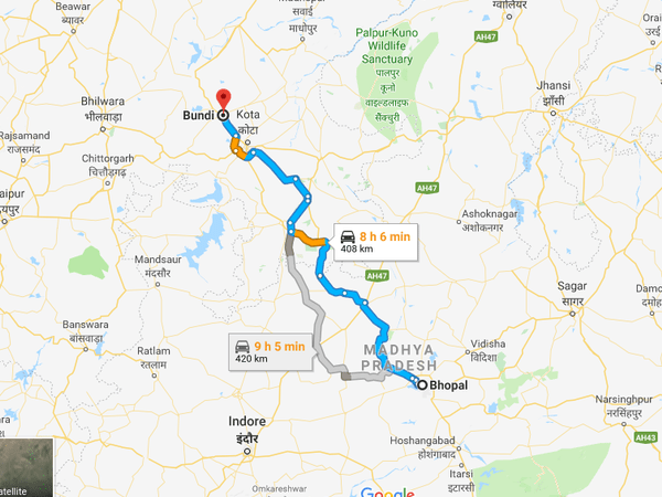 How To Reach Bundi From Bhopal