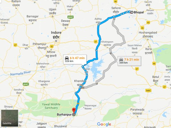 How To Reach Burhanpur From Bhopal