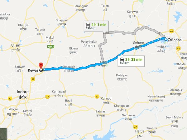 How To Reach Dewas From Bhopal