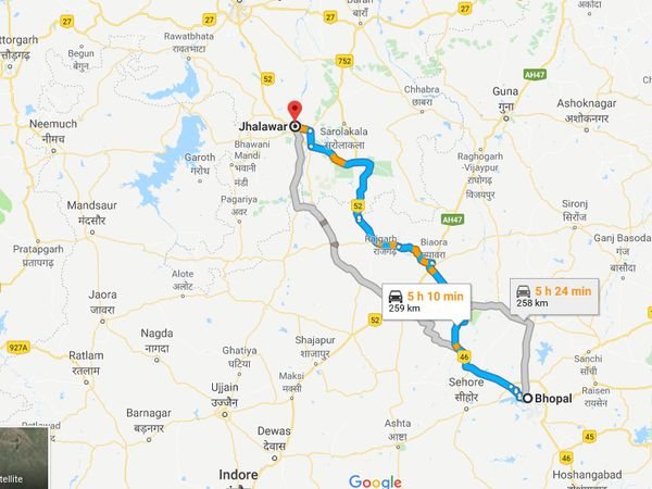 How To Reach Jhalawar From Bhopal
