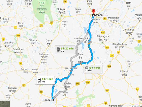 How To Reach Jhansi From Bhopal