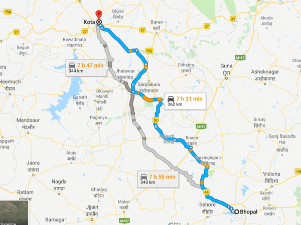 How To Reach Kota From Bhopal
