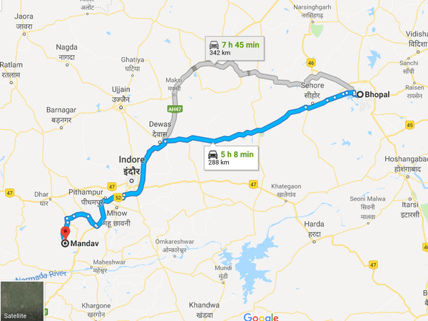 How To Reach Mandu From Bhopal