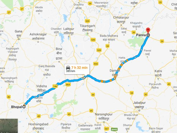 How To Reach Panna From Bhopal
