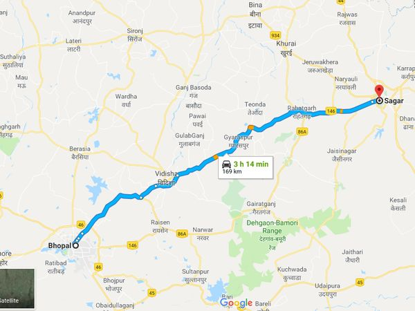 How To Reach Sagar From Bhopal