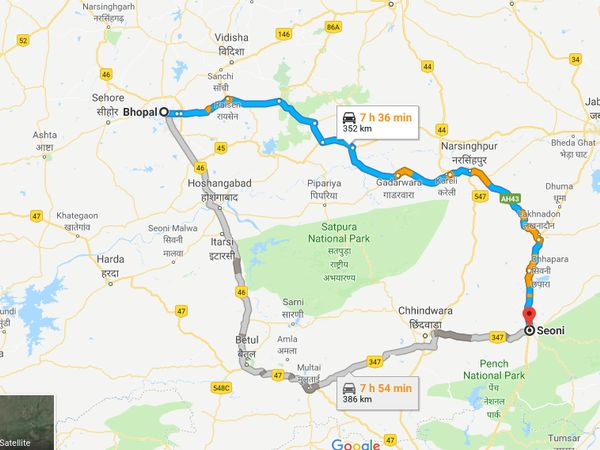 How To Reach Seoni From Bhopal