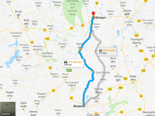 How To Reach Shivpuri From Bhopal