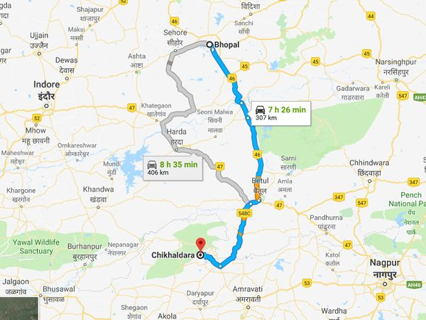 How To Reach Chikhaldara From Bhopal