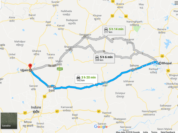 Ujjain India Map.Bhopal To Ujjain Travel Guide Places To Visit And How To Reach