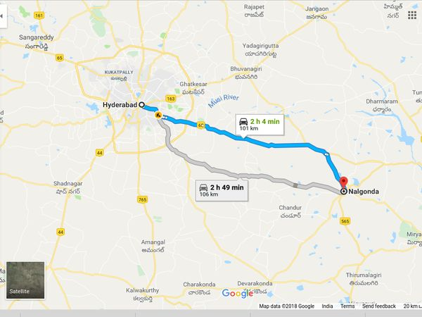 How To Reach Nalgonda From Hyderabad