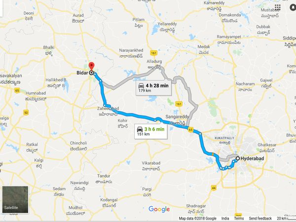 How To Reach Bidar From Hyderabad