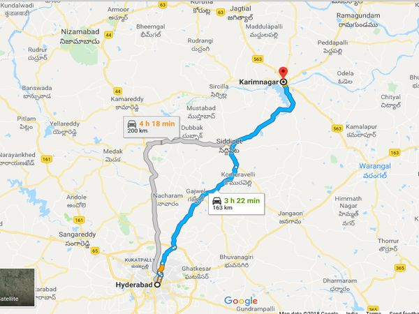 How To Reach Karimnagar From Hyderabad
