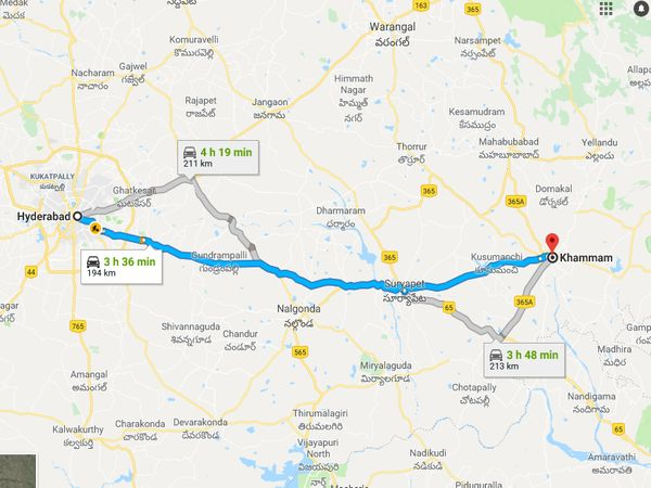 How To Reach Khammam From Hyderabad