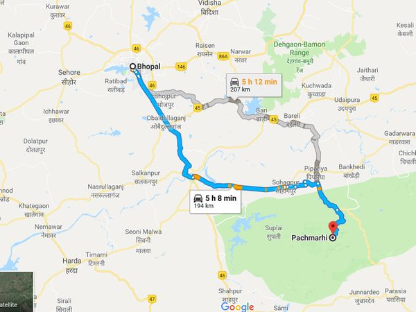 How To Reach Pachmarhi