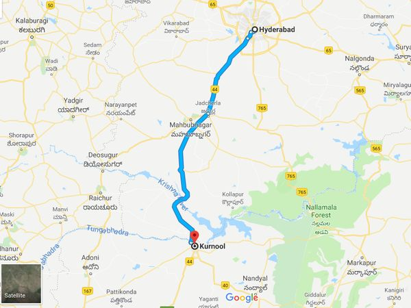 How To Reach Kurnool From Hyderabad