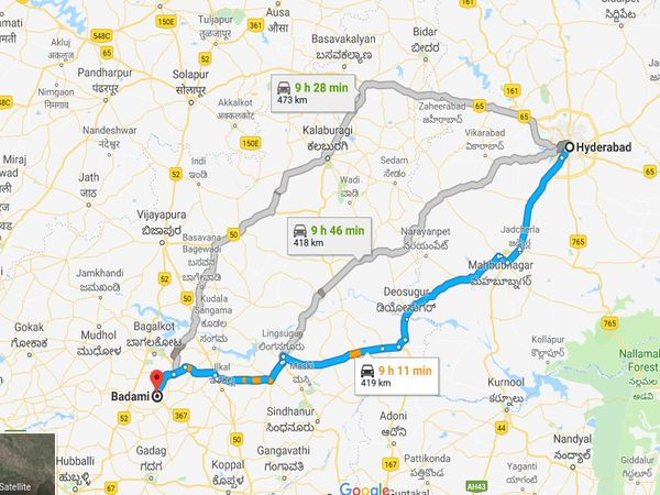 How To Reach Badami From Hyderabad