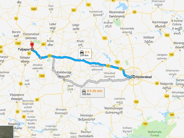 How To Reach Tuljapur From Hyderabad