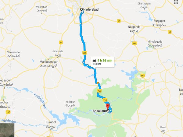 How To Reach Srisailam From Hyderabad