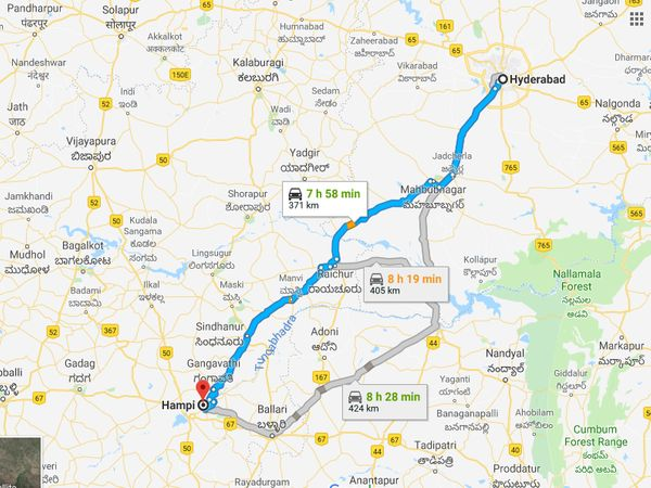 How To Reach Hampi From Hyderabad